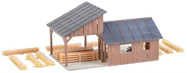 Holzlagerschuppen