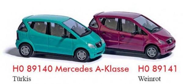 Mercedes A-Klasse weinrot