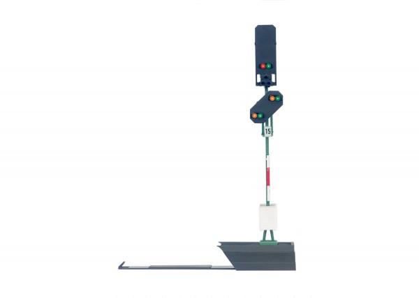 Licht-Blocksignal m.Vorsignal
