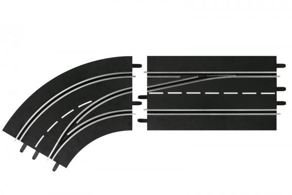 Spurwechselkurve links, außen