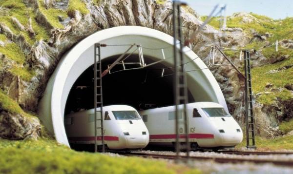 ICE-Tunnelportal 2 gl. H0