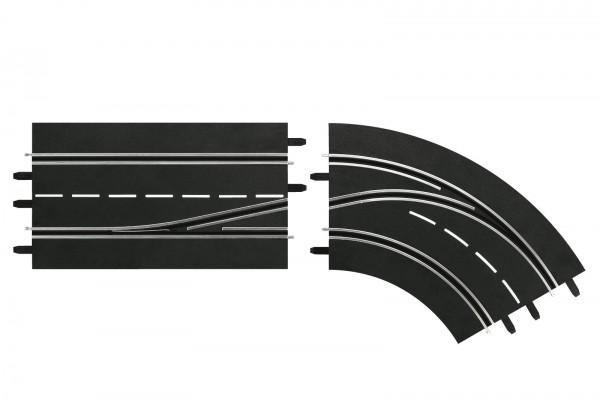 Spurwechselkurve rechts, inne